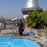 near the terrace pool