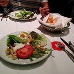 The salad was nice