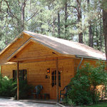 """Cabin #1 """"Knotty Pine"""" An upscale rustic cabin with optional private outdoor hot tub"""