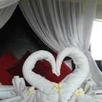 honeymoon setup in room upon arrival day