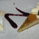 Mango and passionfruit tart
