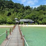 Nice ala-carte restaurant at Gaya Island, facing Sapi Island