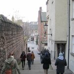 Heading down steps to the Grassmarket