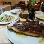 Bistecca in the foreground