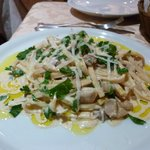 Porcini pasta. The plates are huge