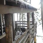 cabin balcony overlooking the lake