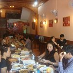 vn Group enjoying indian meal
