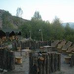 Tents with bonfire place