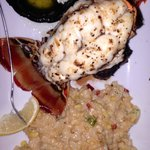 Surf and Turf (Filet is beneath Caribbean Lobster) and Risotto