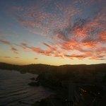 beautiful sunset on Palma bay