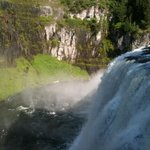 Mesa Falls in our neighboring state of Idaho. Really cool spot.