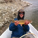 Early season cutthroat on theSnake River, Jackson Hole.