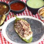 taco Lulú con tortilla azul