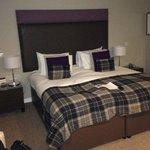 My upgraded room. Huge bed.