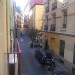 Calle san Pedro desde la ventana del apartamento