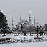 sultanahmet view in winter