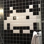 Space Invaders tile in the shower
