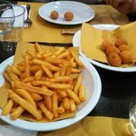 patate fritte e olive all'ascolana