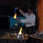 Mayan Coffee & fire show