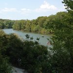 Cameron Park from a cliff top looking down on the Brazos river