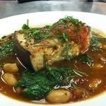 Swordfush, fresh herbs and Italian white bean dinner special