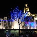 Illuminazioni a Plaza de Cataluña