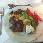 een van de samengestelde maaltijden in buffetrestaurant