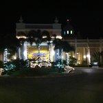 kerstsfeer bij aankomst