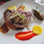 Marinated Kubota squash w/  Japanese salad.