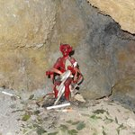 Imagen del diablo dentro de la mina