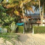 maison vue de la plage