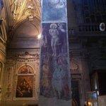 Santa Maria Maggiore a Firenze, Particolare di affresco su pilastro