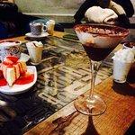 Cioccolate e cheesecake alla fragola.