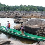 Boarding the river boat