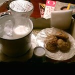 Milk & cookies delivered to our room in the evening
