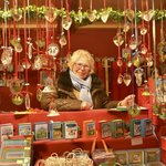 Frau Liesel - a very friendly seller and painter
