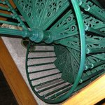 Beautiful, spiral stairs in Carriage House