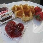 Breakfast at Novotel Monte Carlo.