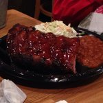 Baby Back Ribs plate..,tender meat falling right off the bone.,yum