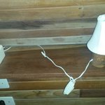 lamp fitted with to strong bulb, obvious fire hazard; didn't use