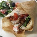 ORGANIC CHICKEN PITA ! Marinated in Olive Oil, Garlic, Citrus & Secret Greek Spice Mixture w/ Tz