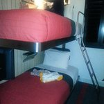 The mini bunk room - this is the smallest room offered and it was perfect for a weekend trip