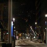 Улица отеля ночью