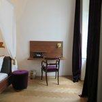 desk in bedroom, spa suite