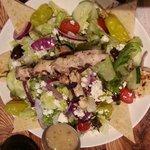 Chicken Skewer Salad
