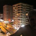 Вечерний вид с балкона отеля