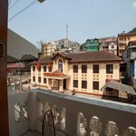 View from balcony at Elysian Sapa Hotel