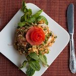 Banana flower salad at Elysian Sapa Hotel