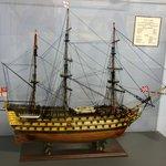 Models of sailing ships