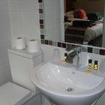 Bathroom very clean and modern